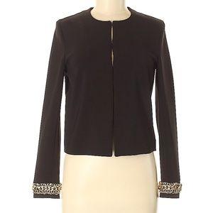 H&M Black Women's Blazer with Gold Chains Size 6